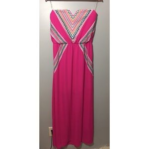 My Michelle Pink Maxi Dress Size Large